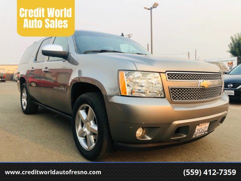 2007 Chevrolet Suburban for sale at Credit World Auto Sales in Fresno CA