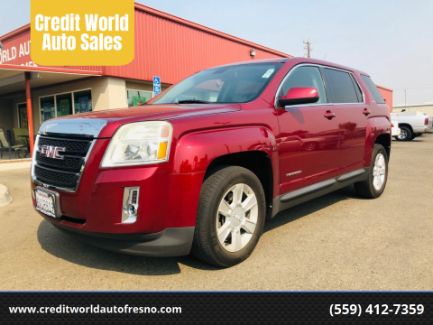 2011 GMC Terrain for sale at Credit World Auto Sales in Fresno CA