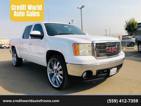 2007 GMC Sierra 1500 for sale at Credit World Auto Sales in Fresno CA