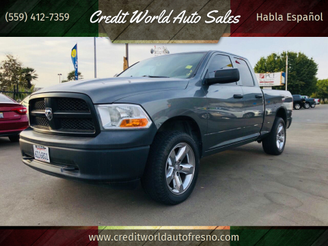 2012 RAM Ram Pickup 1500 for sale at Credit World Auto Sales in Fresno CA