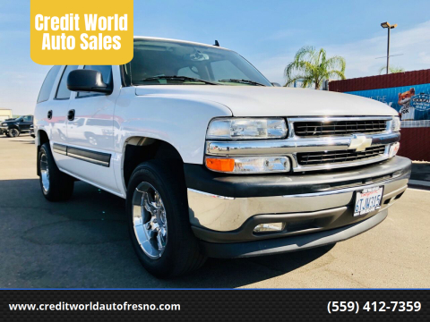 2006 Chevrolet Tahoe for sale at Credit World Auto Sales in Fresno CA