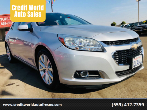 2014 Chevrolet Malibu for sale at Credit World Auto Sales in Fresno CA