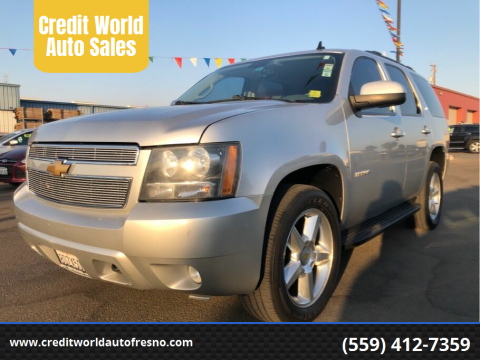 2010 Chevrolet Tahoe for sale at Credit World Auto Sales in Fresno CA