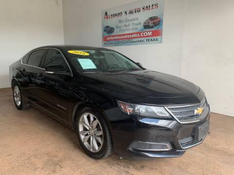 2016 Chevrolet Impala for sale at Antonio's Auto Sales - Antonio`s  3001 in Pasadena TX