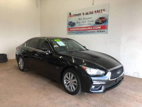 2018 Infiniti Q50 for sale at Antonio's Auto Sales in South Houston TX