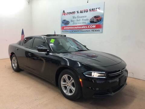 2016 Dodge Charger for sale at Antonio's Auto Sales - Antonio`s  2206 in Pasadena TX