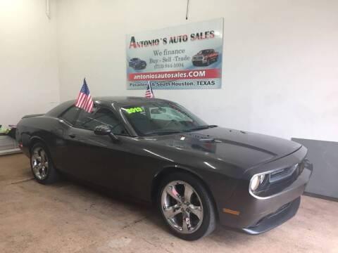 2013 Dodge Challenger for sale at Antonio's Auto Sales - Antonio`s  2206 in Pasadena TX