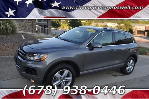 2012 Volkswagen Touareg for sale in Roswell, GA