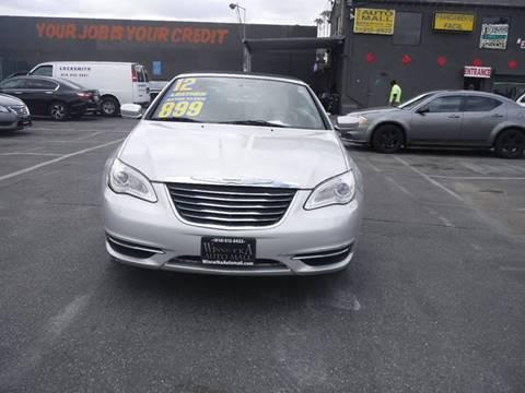 2012 Chrysler 200 Convertible for sale at Winnetka Auto Mall in Winnetka CA