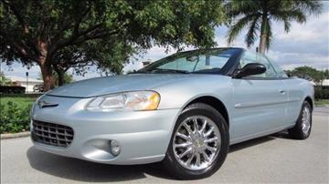 2001 Chrysler Sebring for sale at DS Motors in Boca Raton FL