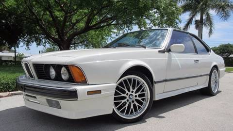 1988 BMW 6 Series for sale at DS Motors in Boca Raton FL