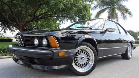1986 BMW 6 Series for sale at DS Motors in Boca Raton FL
