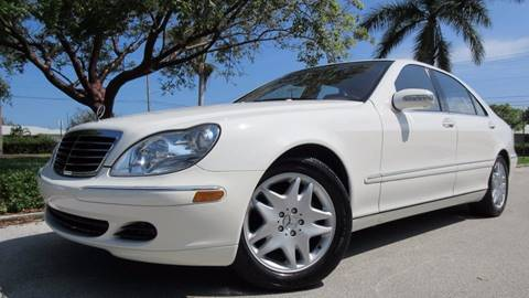 2003 Mercedes-Benz S-Class for sale at DS Motors in Boca Raton FL