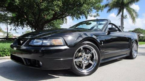 2001 Ford Mustang SVT Cobra for sale at DS Motors in Boca Raton FL