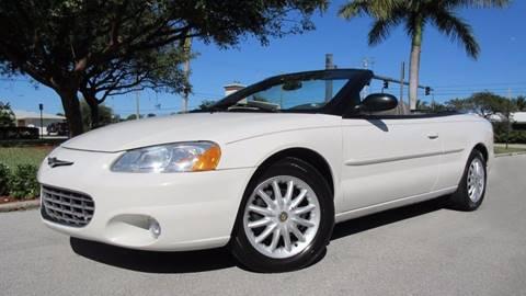 2003 Chrysler Sebring for sale at DS Motors in Boca Raton FL