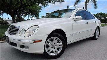 2003 Mercedes-Benz E-Class for sale at DS Motors in Boca Raton FL