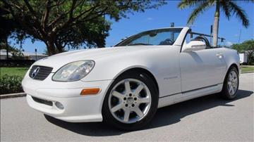 2002 Mercedes-Benz SLK for sale at DS Motors in Boca Raton FL