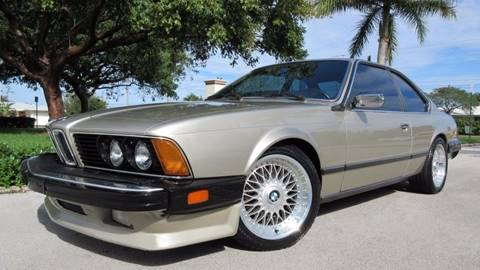 1985 BMW 6 Series for sale at DS Motors in Boca Raton FL