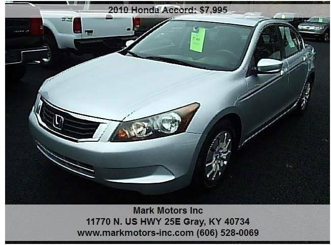 2010 Honda Accord For Sale >> 2010 Honda Accord Lx In Gray Ky Mark Motors Inc