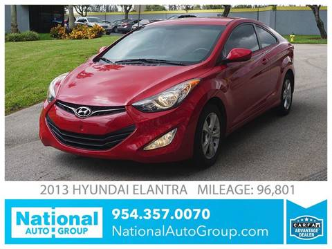 2013 Hyundai Elantra Coupe for sale in Davie, FL