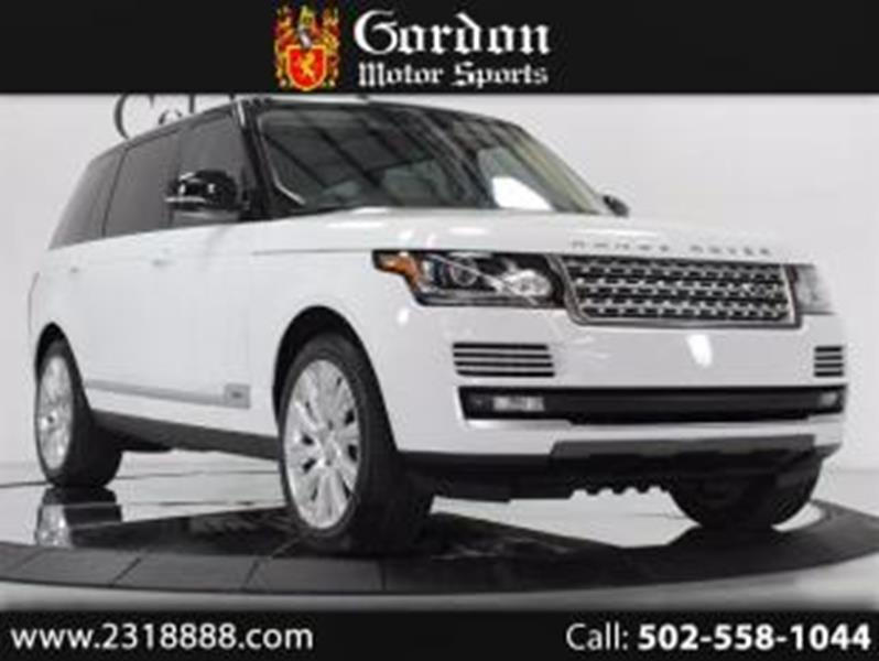 Louisville Land Rover >> 2014 Land Rover Range Rover Louisville Ky Louisville Kentucky