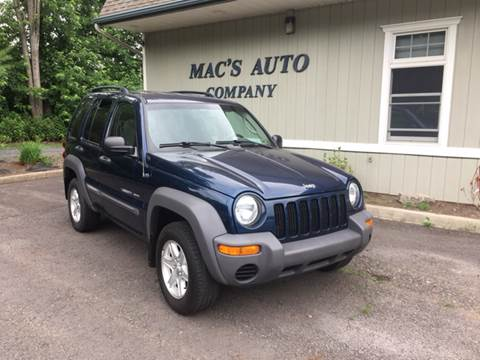 2003 Jeep Liberty for sale at MAC'S AUTO COMPANY in Nanticoke PA