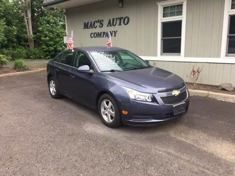 2014 Chevrolet Cruze for sale at MAC'S AUTO COMPANY in Nanticoke PA