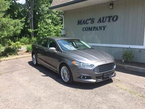 2014 Ford Fusion for sale at MAC'S AUTO COMPANY in Nanticoke PA