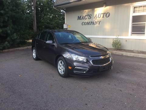 2015 Chevrolet Cruze for sale at MAC'S AUTO COMPANY in Nanticoke PA