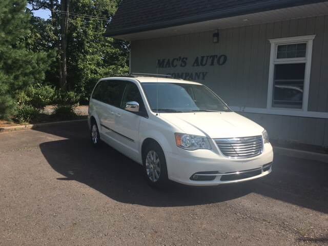 2012 Chrysler Town and Country for sale at MAC'S AUTO COMPANY in Nanticoke PA