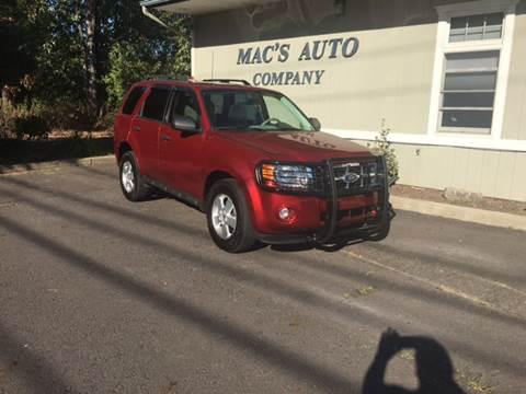 2012 Ford Escape for sale at MAC'S AUTO COMPANY in Nanticoke PA