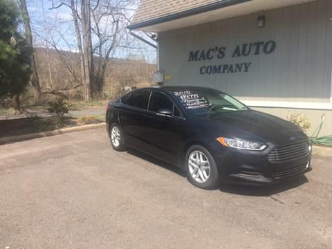 2015 Ford Fusion for sale at MAC'S AUTO COMPANY in Nanticoke PA