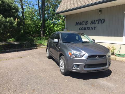 2012 Mitsubishi Outlander Sport for sale at MAC'S AUTO COMPANY in Nanticoke PA