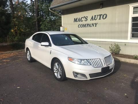 2012 Lincoln MKS for sale at MAC'S AUTO COMPANY in Nanticoke PA
