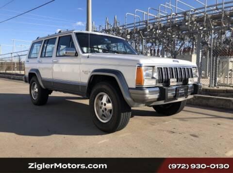 1989 Jeep Cherokee Laredo for sale at Zigler Motors in Addison TX