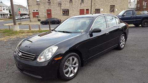 2006 Infiniti G35 for sale at Centre City Imports Inc in Reading PA