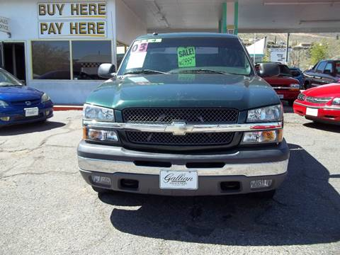 2003 Chevrolet Silverado 1500 for sale at GALLIAN DISCOUNT AUTO in St George UT