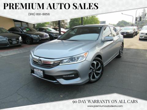 2017 Honda Accord for sale at Premium Auto Sales in Sacramento CA