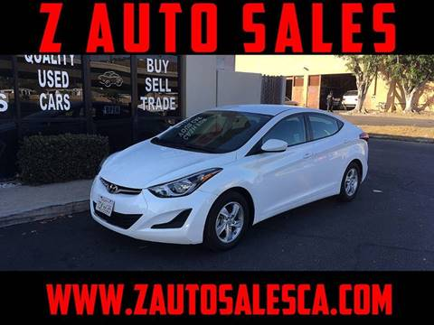 2014 Hyundai Elantra for sale at Z Auto Sales in Corona CA