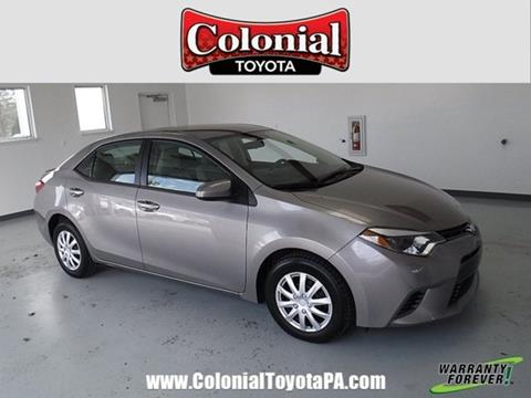 2015 Toyota Corolla For Sale In Indiana, PA