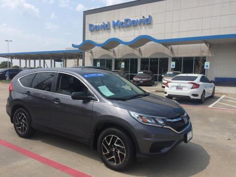 2016 Honda CR-V for sale in Irving, TX