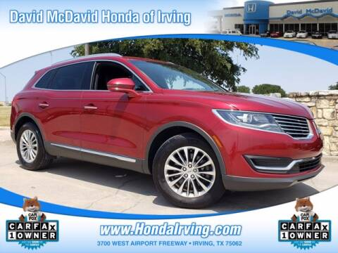 2017 Lincoln MKX for sale at DAVID McDAVID HONDA OF IRVING in Irving TX