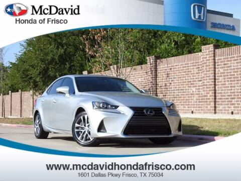 2018 Lexus IS 300 for sale at DAVID McDAVID HONDA OF IRVING in Irving TX
