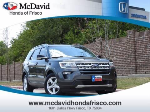 2018 Ford Explorer for sale at DAVID McDAVID HONDA OF IRVING in Irving TX