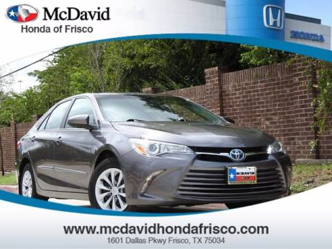 2017 Toyota Camry Hybrid for sale at DAVID McDAVID HONDA OF IRVING in Irving TX