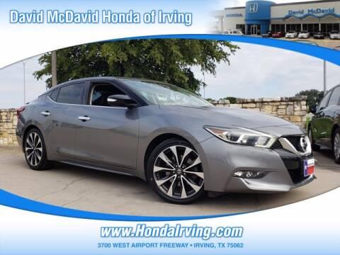 2016 Nissan Maxima for sale at DAVID McDAVID HONDA OF IRVING in Irving TX