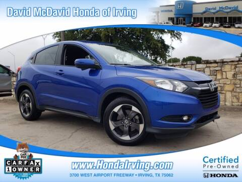 2018 Honda HR-V for sale at DAVID McDAVID HONDA OF IRVING in Irving TX