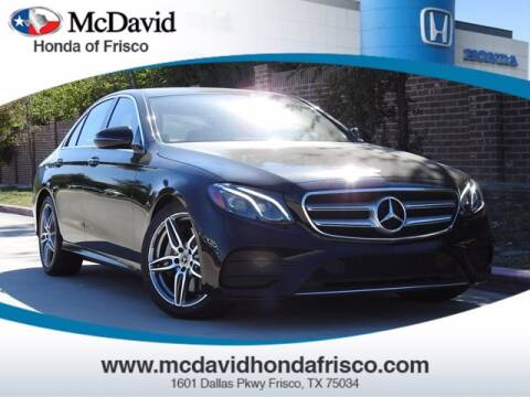 2018 Mercedes-Benz E-Class for sale at DAVID McDAVID HONDA OF IRVING in Irving TX