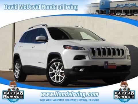 2016 Jeep Cherokee for sale at DAVID McDAVID HONDA OF IRVING in Irving TX
