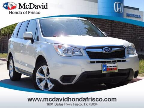 2015 Subaru Forester for sale at DAVID McDAVID HONDA OF IRVING in Irving TX